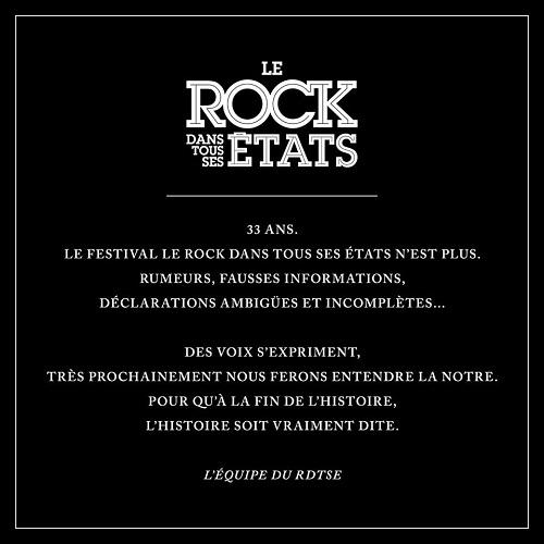 comuniqué Le Rock Dans Tous Ses Etats