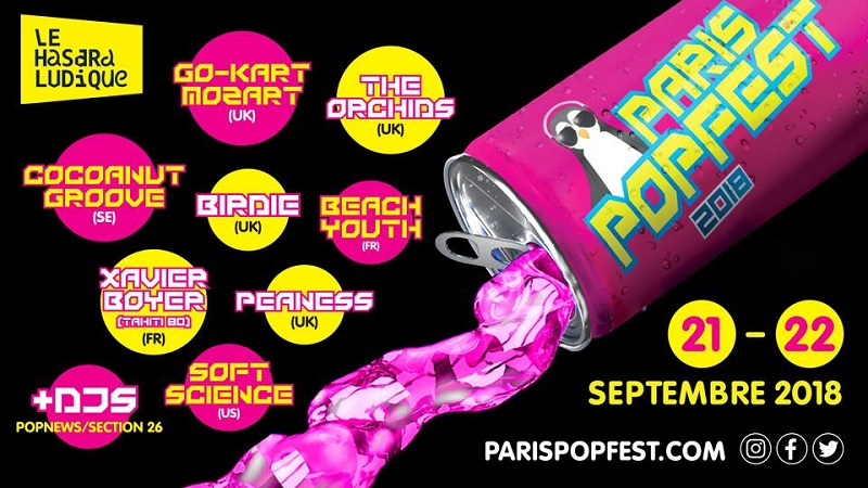Paris Popfest 2018 - 21 et 22 septembre - Paris