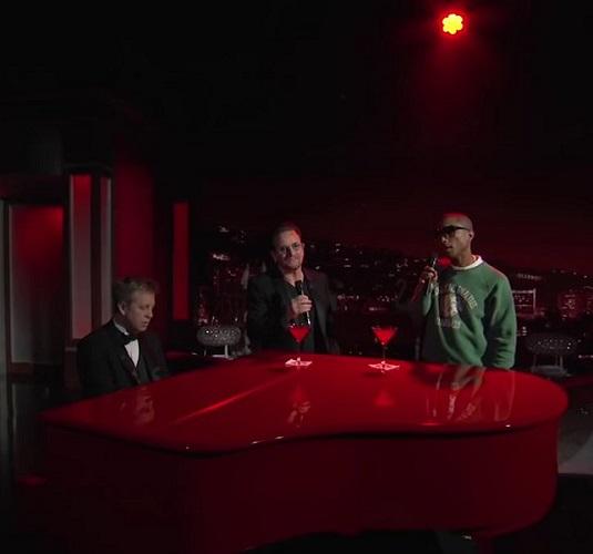 Bono et Pharrell Stayin Alive cover