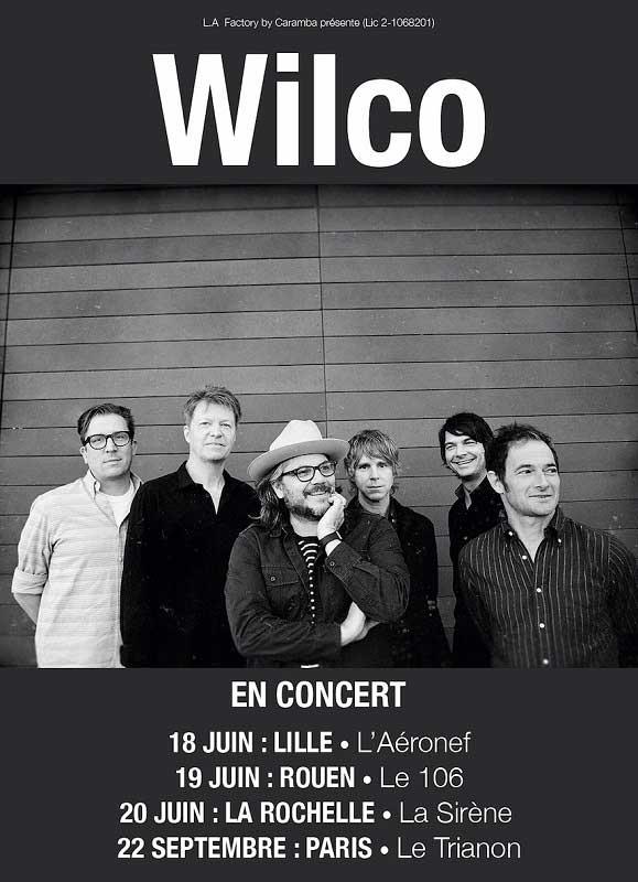 Wilco tournée France 2019