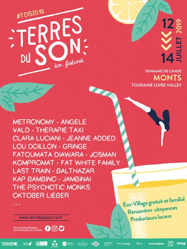 Festival Terres du Son 2019 - 12 au 14 juillet - Monts (37)
