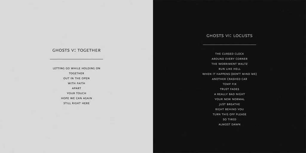Nine Inch Nails / Ghosts V : Together - Ghosts VI : Locusts