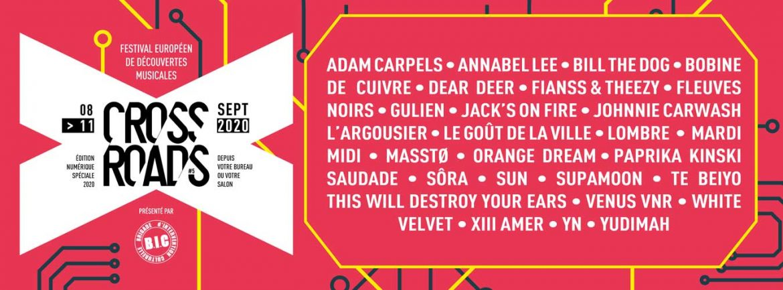Crossroads Festival 2020 - du 8 au 11 septembre - Roubaix / En ligne