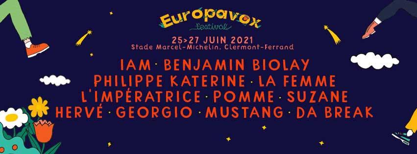 Europavox Festival 2021 - du 25 au 27 juin - Clermont-Ferrand