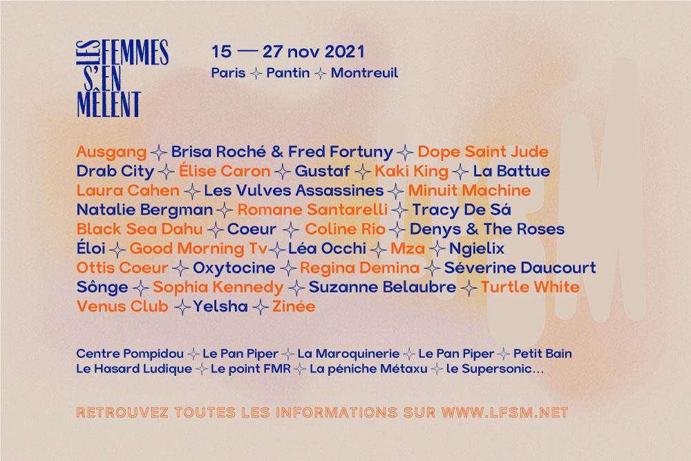 Festival Les Femmes S'en Mêlent 2021 - du 14 octobre au 27 novembre